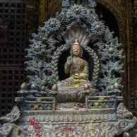 Buddha figure at Lalitpur's Golden Temple