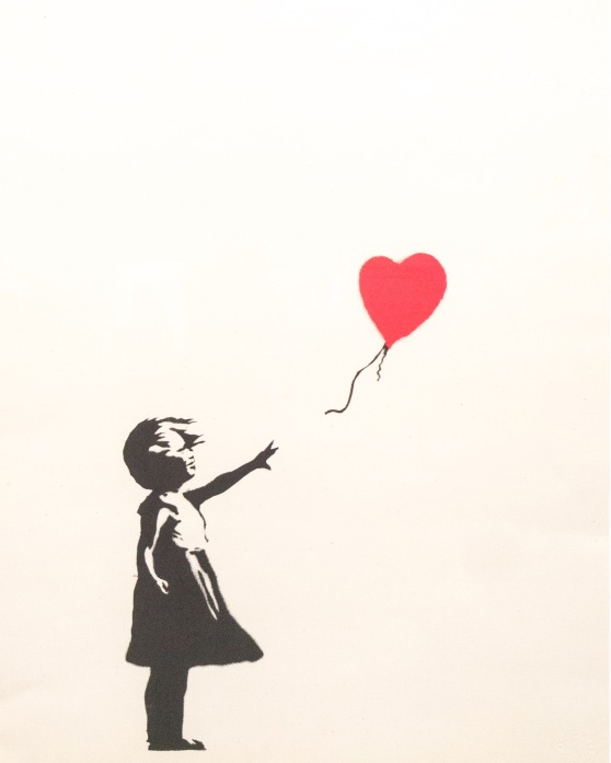 Girl with balloon - Banksy.