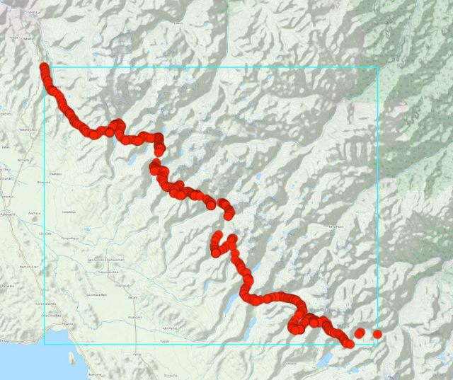 GPX Viewer - Outdoor View of Cordillera Real Route