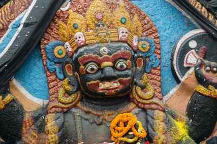 Kathmandu Durbar Square N - Bhairav close-up