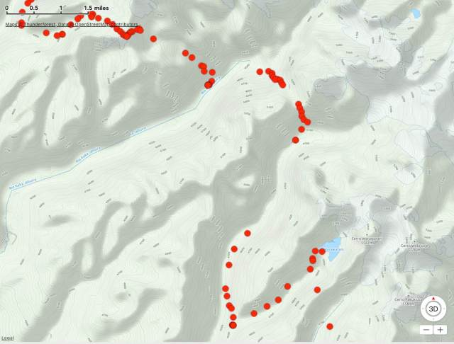 north of Lago Warawarani - the worst section of my recorded Route