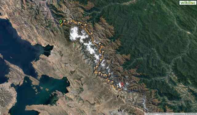 wikiloc route image - Cordillera Real 2011