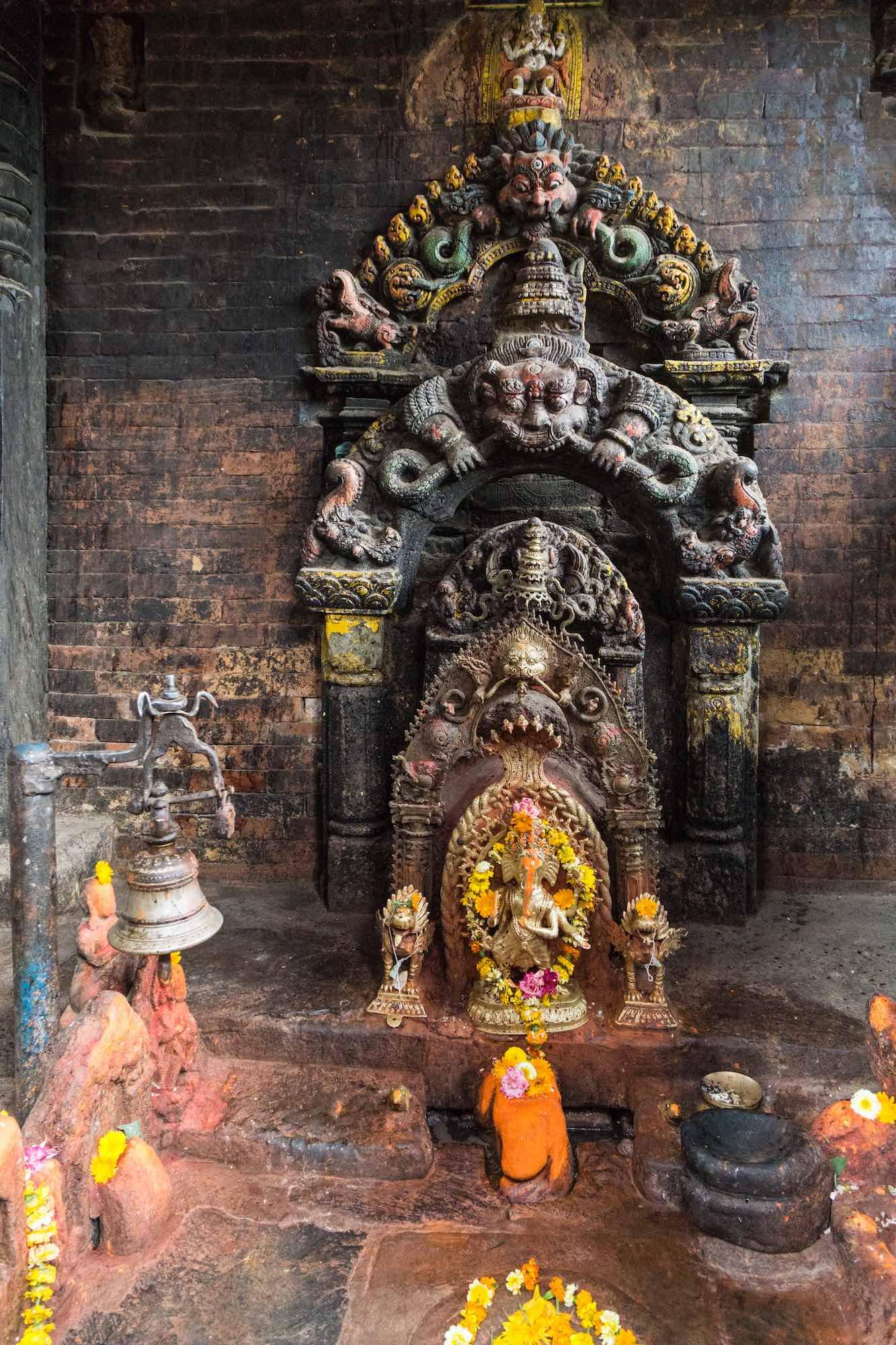 Potters' Square Bhaktapur May 2018 shrine