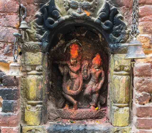 Potters Square - Bhaktapur May 2018 wall shrine