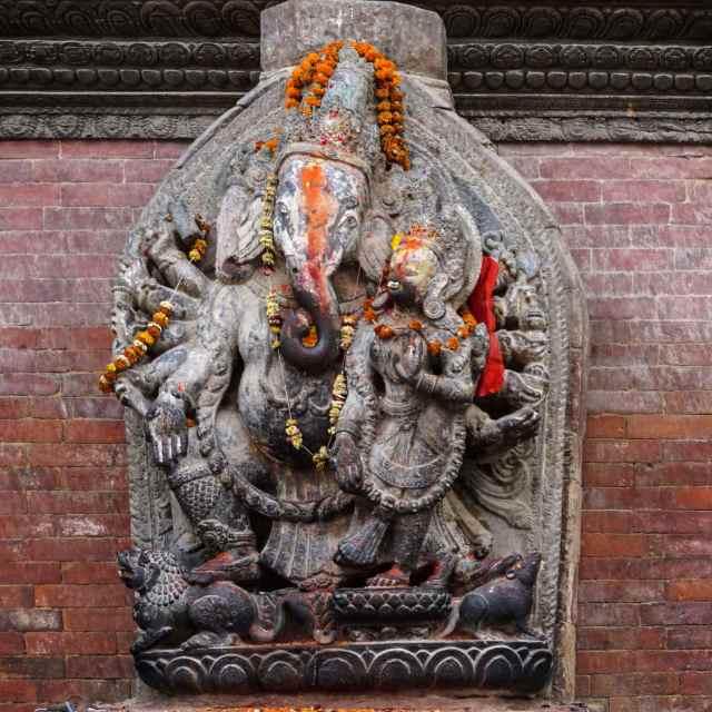 Ganesha stone statue Patan Durbar Square