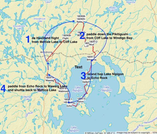 gps-track-mattice-lake-to-cliff-lake-to-waweig-lake