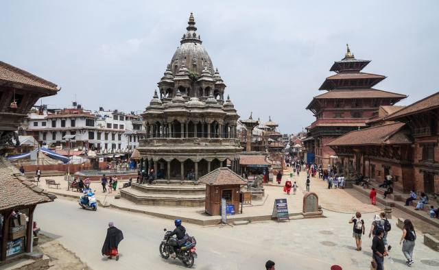 looking down Patan's Durbar Square from the south end - May 2018
