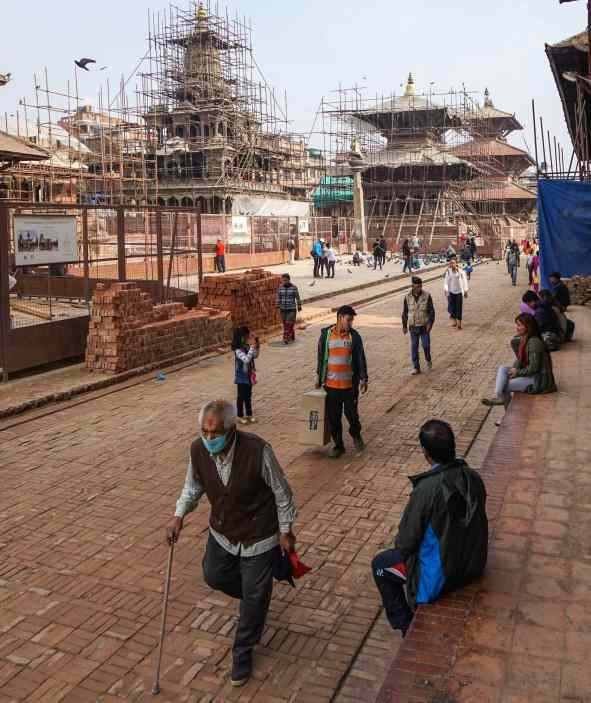 looking down to the north end of Patan's Durbar Square - may 2018