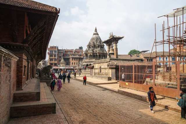 looking to the south end of Patan's Durbar Square