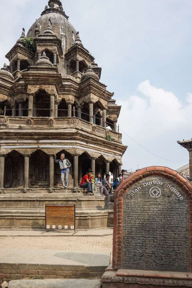 Patan Durbar Square - south end - Krishna Temple (Chyasim Deval)