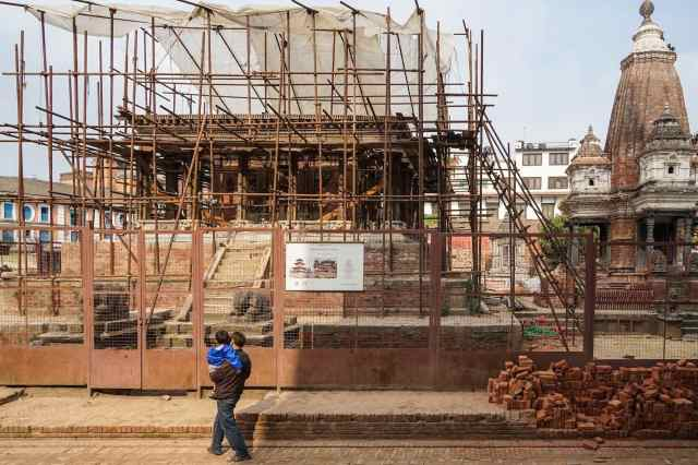 The Harishankara Temple Rebuild on Durbar Square Patan May 2018