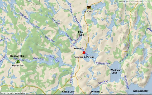 From Lake Nipigon To Kopka Falls or Mattice Lake