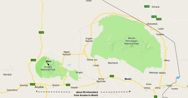 northern Tanzania - Arusha to Moshi