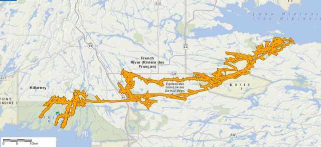 The French River system - from Lake Nipissing to Georgian Bay