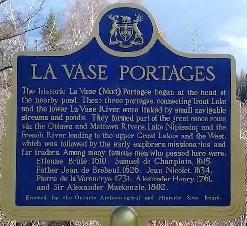 La Vase Portage Plaque