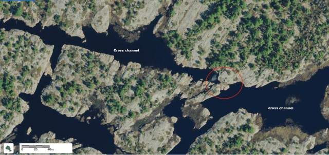 the 10-meter lift-over on the French River Delta east cross channel