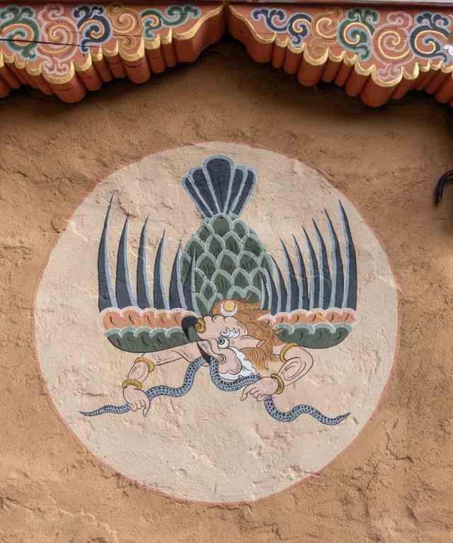 garuda biting naga (snake) image on Chebisa house