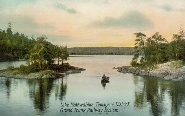 Lake Mattawapika - Grand Trunk Railway postcard